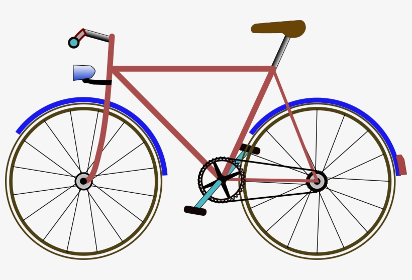 Bicycle Clip Art Free Vector.