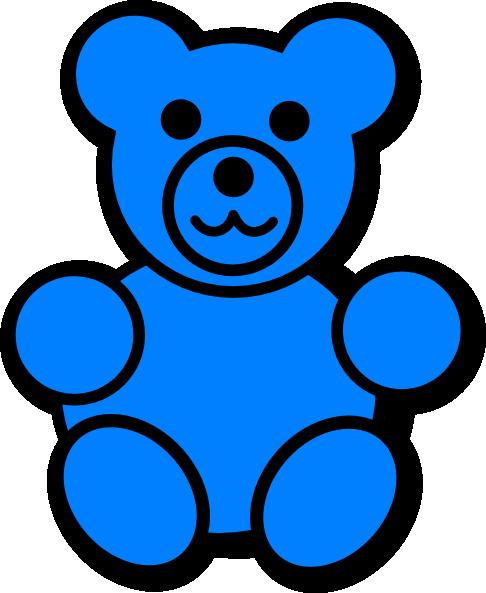 Blue Bear Clipart.