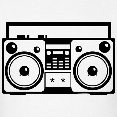 Black 80 s stereo png clipart Transparent pictures on F.