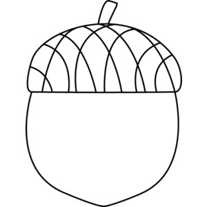 Free Black And White Acorn Clip Art.