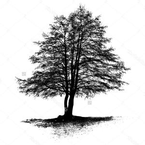 Free Black And White Oak Tree Clip Art Free Vector For Download.