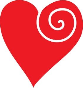 Blue Heart Clip Art Black Amp White Heart Clip Art Heart Swirl.