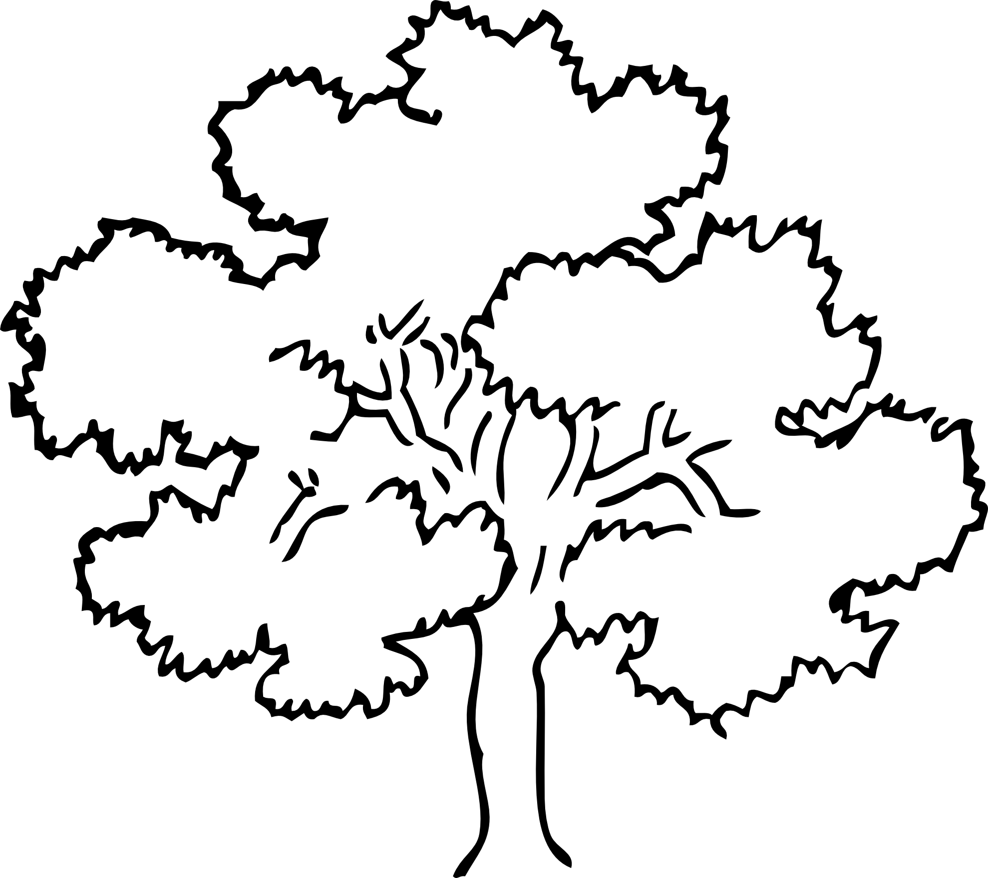 Tree Black And White Clipart.