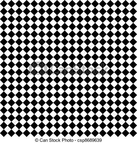 Stock Photographs of Black & White Diamond Checks.