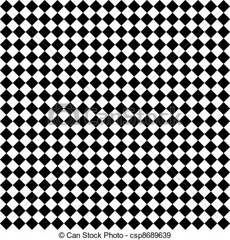 Stock Photographs of Black & White Diamond Checks.