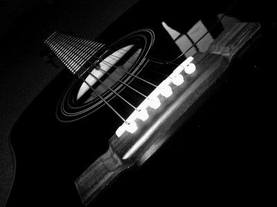 Black And White Guitar.