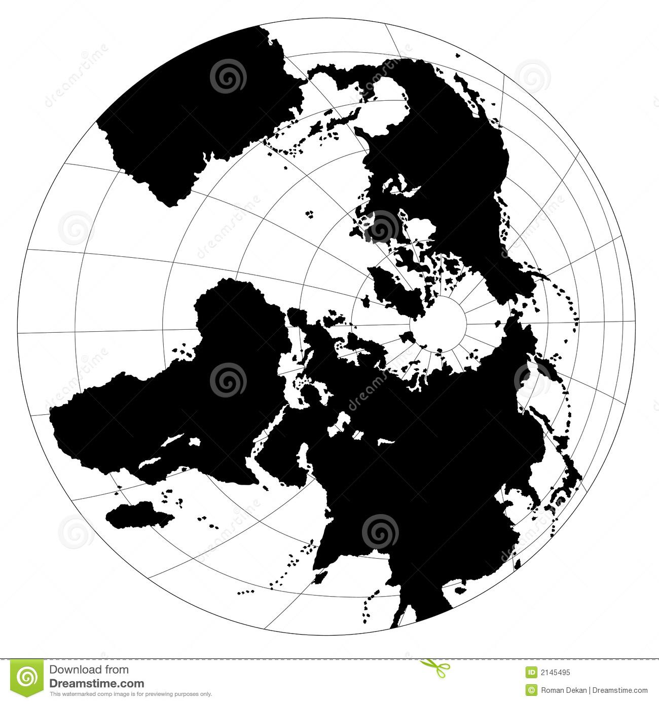 Black & White Globe Royalty Free Stock Photo.