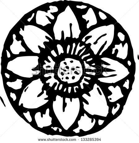 Black White Lotus Flower Drawing Stock Vectors & Vector Clip Art.