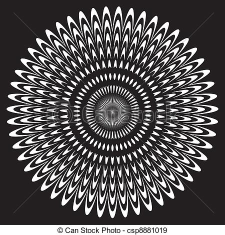 EPS Vectors of Black & White Circle Design Pattern.