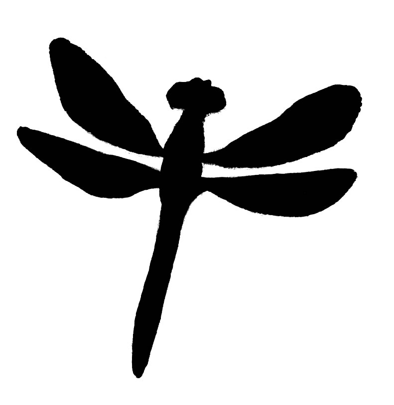 Dragonfly Clipart Black And White.