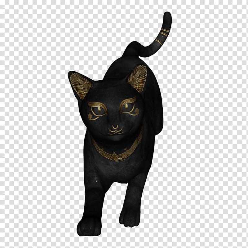 Bast Jumping , black and brown cat illustration transparent.