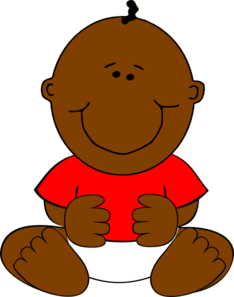 Black Baby Clipart.