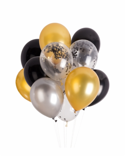 gold balloons , Free png download.