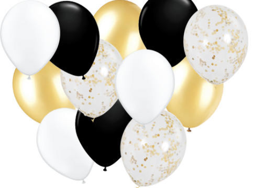 graduation balloons, party balloons, confetti balloons, wedding balloons,  party balloons, helium balloons.