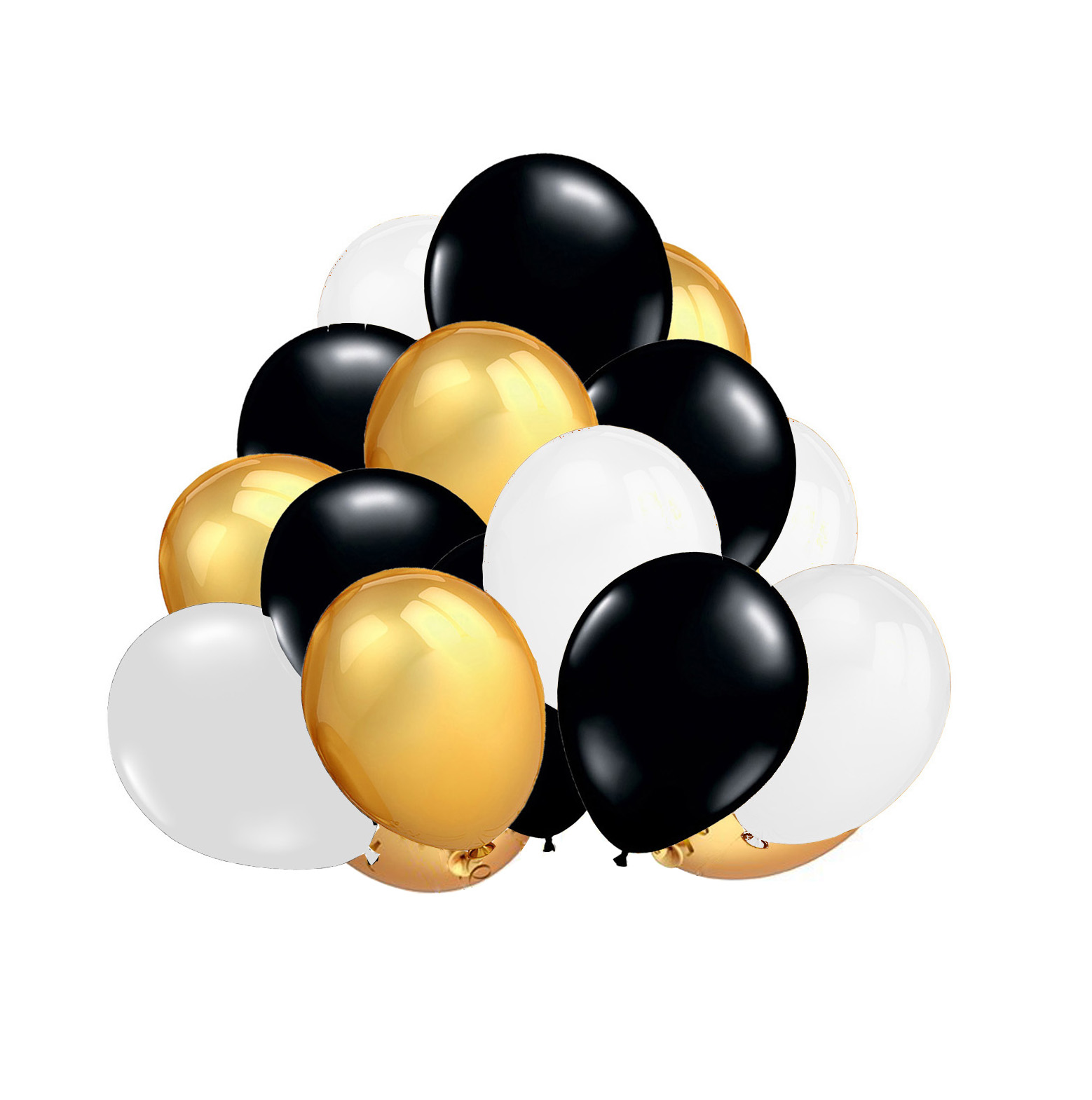 FECEDY Black Gold White Balloons.