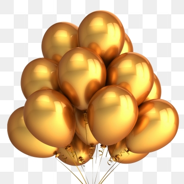 Gold Balloon Png, Vector, PSD, and Clipart With Transparent.