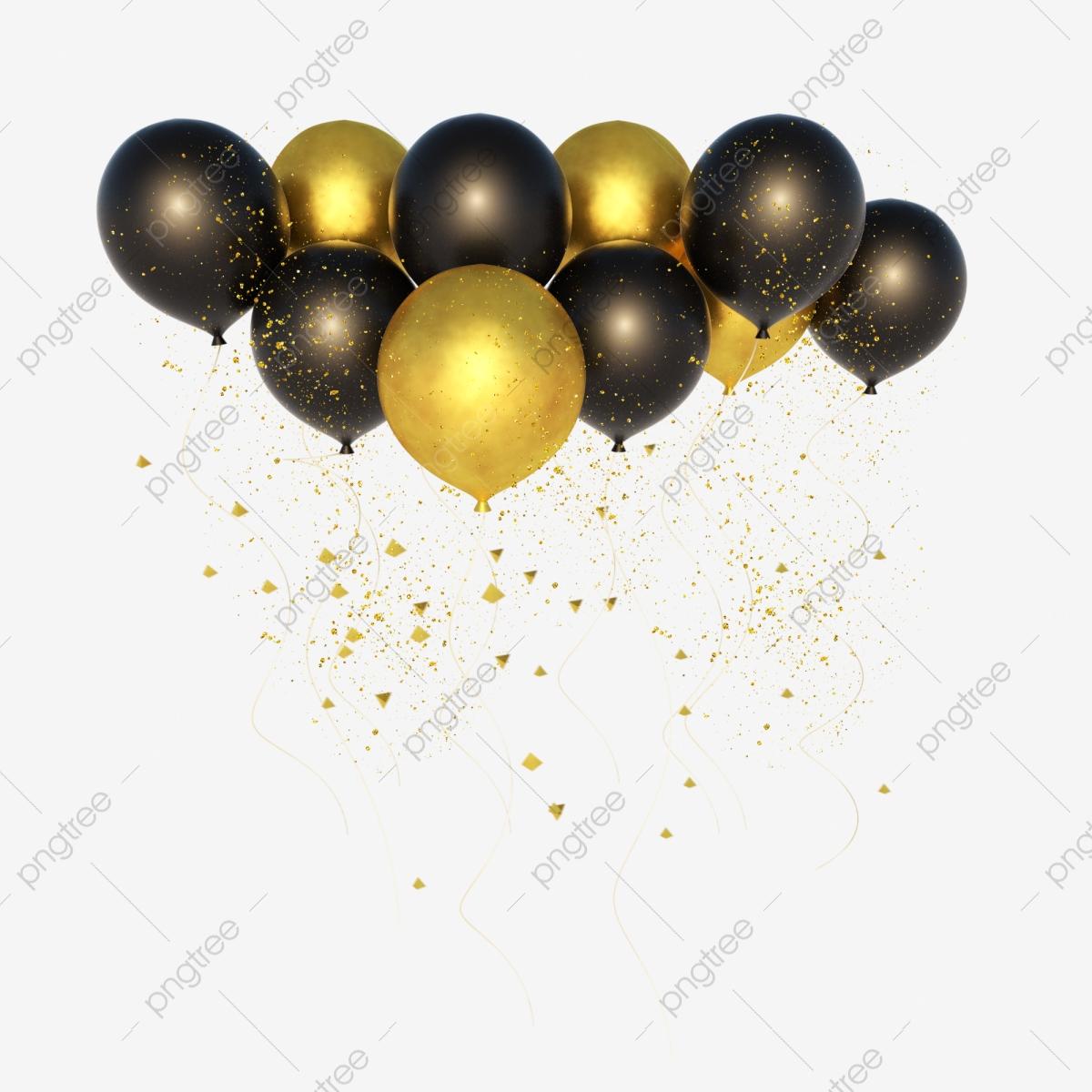 Gold Balloon Finance, Balloon Clipart, Golden, Balloon PNG.