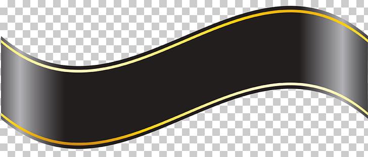 Black ribbon Banner , ribbon PNG clipart.