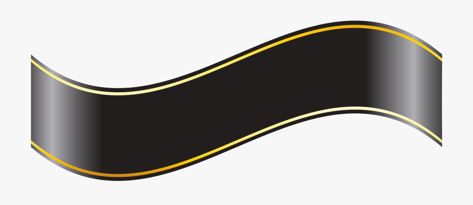 Black Banner Png Clipart.