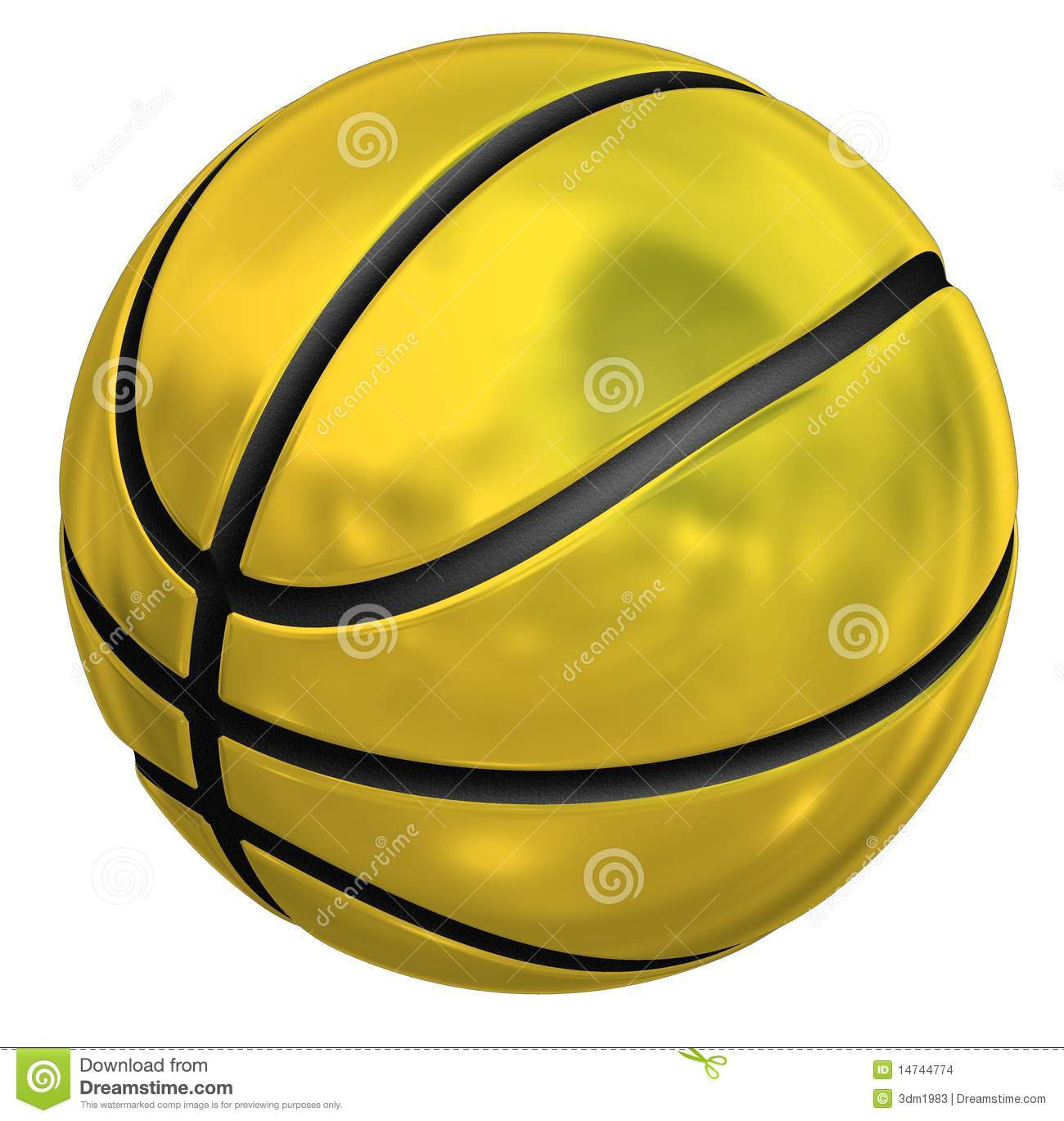 Gold Basketball Clipart.