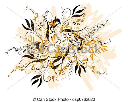 Black And Gold Floral.