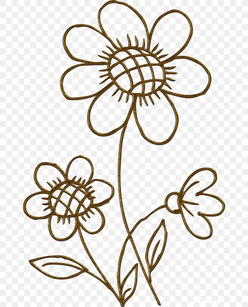 Cut Flowers Gold Floral Design Clip Art, PNG, 670x1017px.