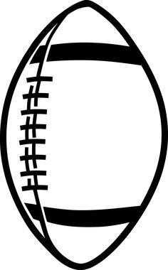 Black and gold football clip art image, sports clipart.
