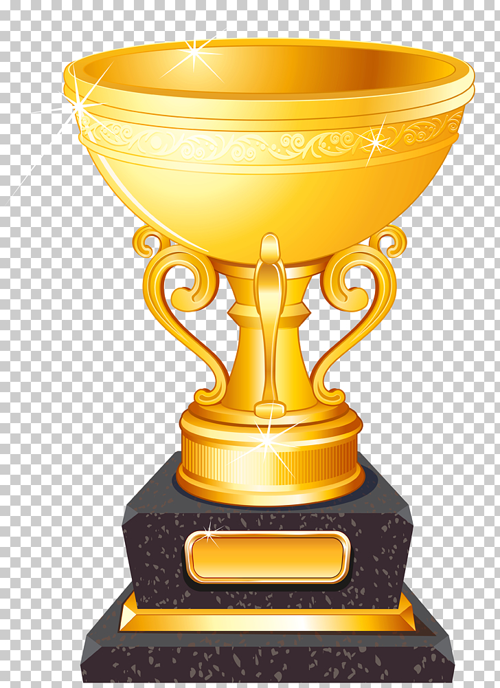 Trophy Football , Golden Cup Trophy , gold and black trophy.