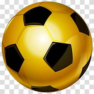 Brown soccer ball illustration, Football , Gold Soccer Ball.