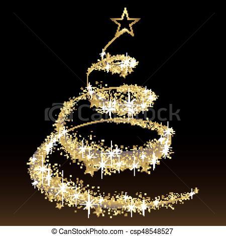 Black and Gold Christmas Tree.