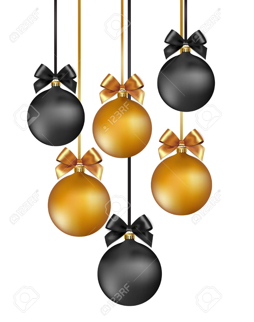 Vector elegant Christmas background with gold and black evening...