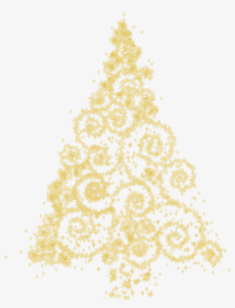 Picture Black And White Gold Christmas Clipart Tree.