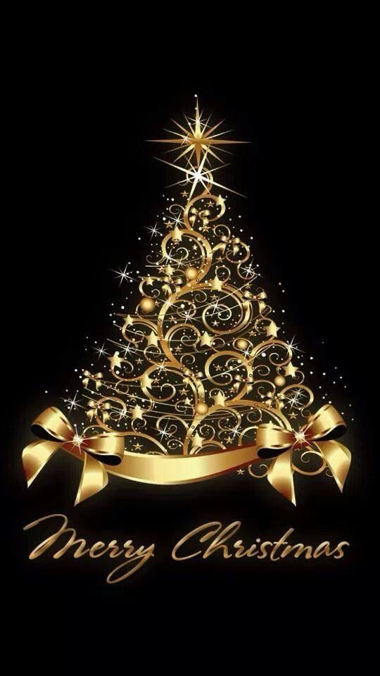 Black and Gold I Merry Christmas.