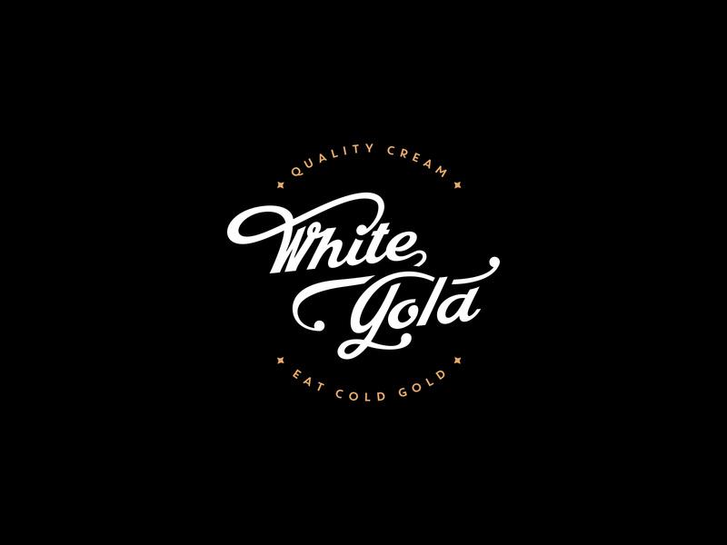 White Gold Logo by Ali on Dribbble.