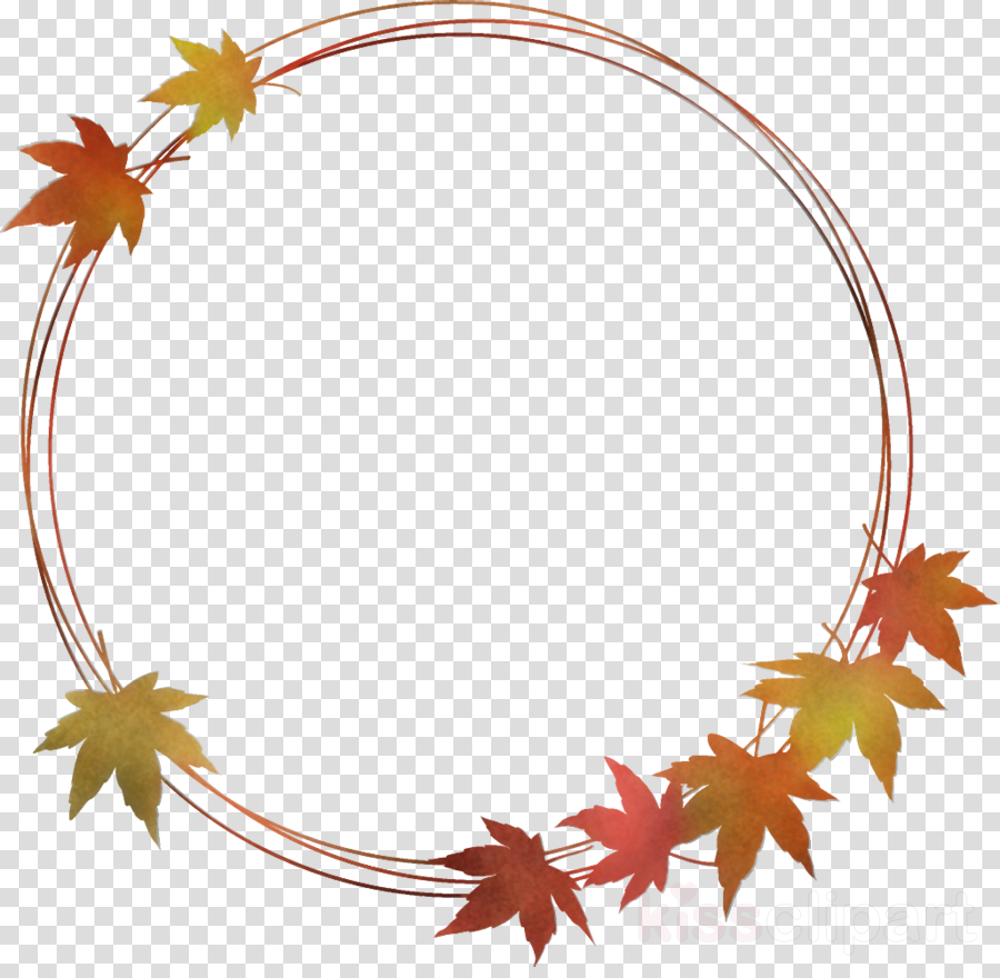 autumn leaf wreath leaves wreath thanksgiving clipart.