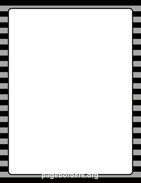 Gray and Black Striped Border: Clip Art, Page Border, and.