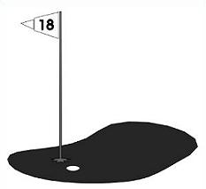 Golf Hole Clipart Black And White.