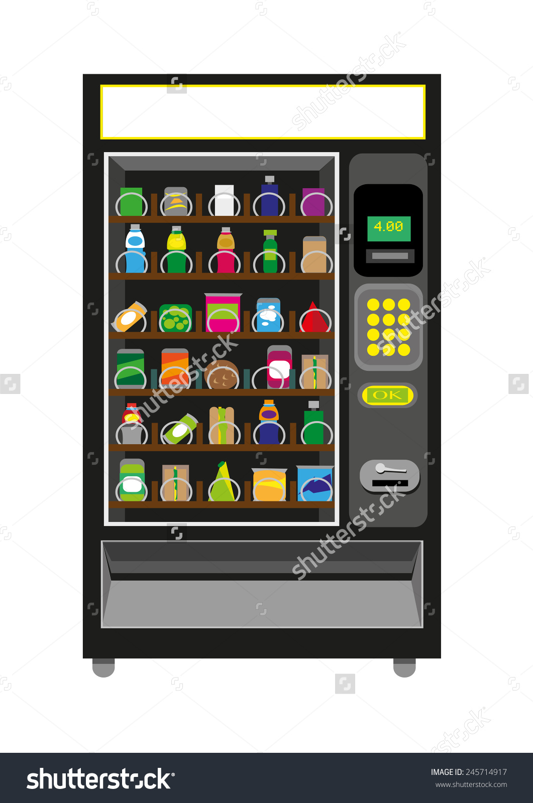 Vending Machine Black Color Isolated On Stock Vector 245714917.