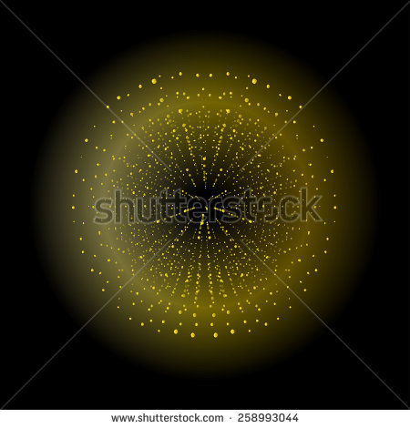 Space Sparks Spray Shiny Explosion. Yellow Color Salute. Raster.
