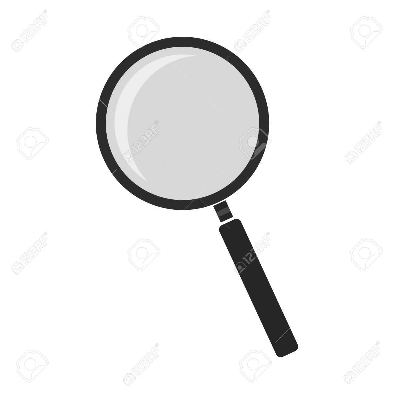 Magnifying Glass Tool. Zoom Icon. Vector Color Clip Art No Outline.