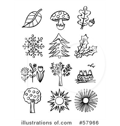 Free Nature Clipart Black And White.