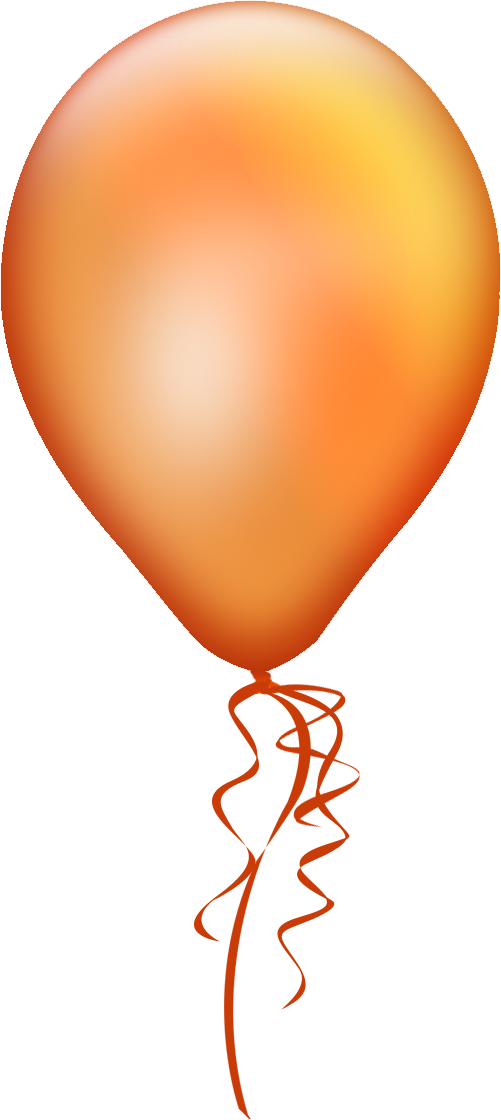 Orange balloon.