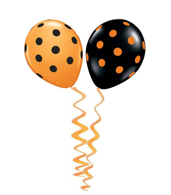 Balloons Orange Balloon Black Balloon Polka Dot by.