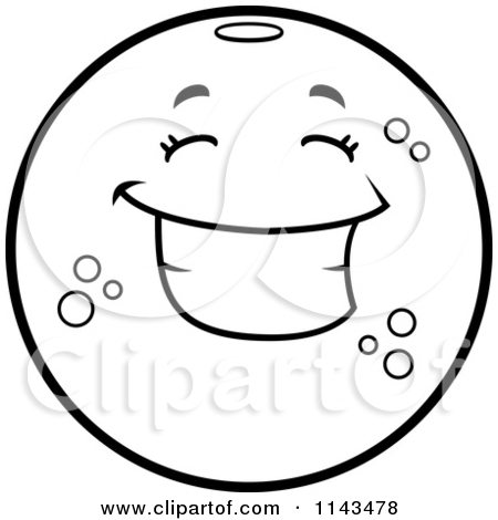 Cartoon Clipart Of A Black And White Angry Navel Orange Character.