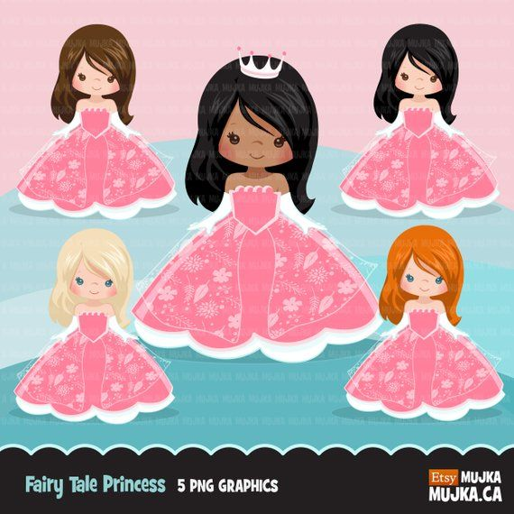 Fairy Tale Princess Clipart. Story book characters, princess.