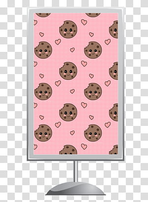 Signboards , brown and black cookies graphic screenshot.
