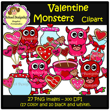 Valentine Monsters & Cookies.