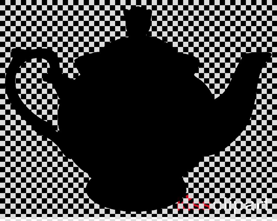 teapot kettle tableware silhouette black.