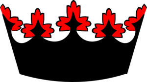 Black And Red Crown Clip Art at Clker.com.