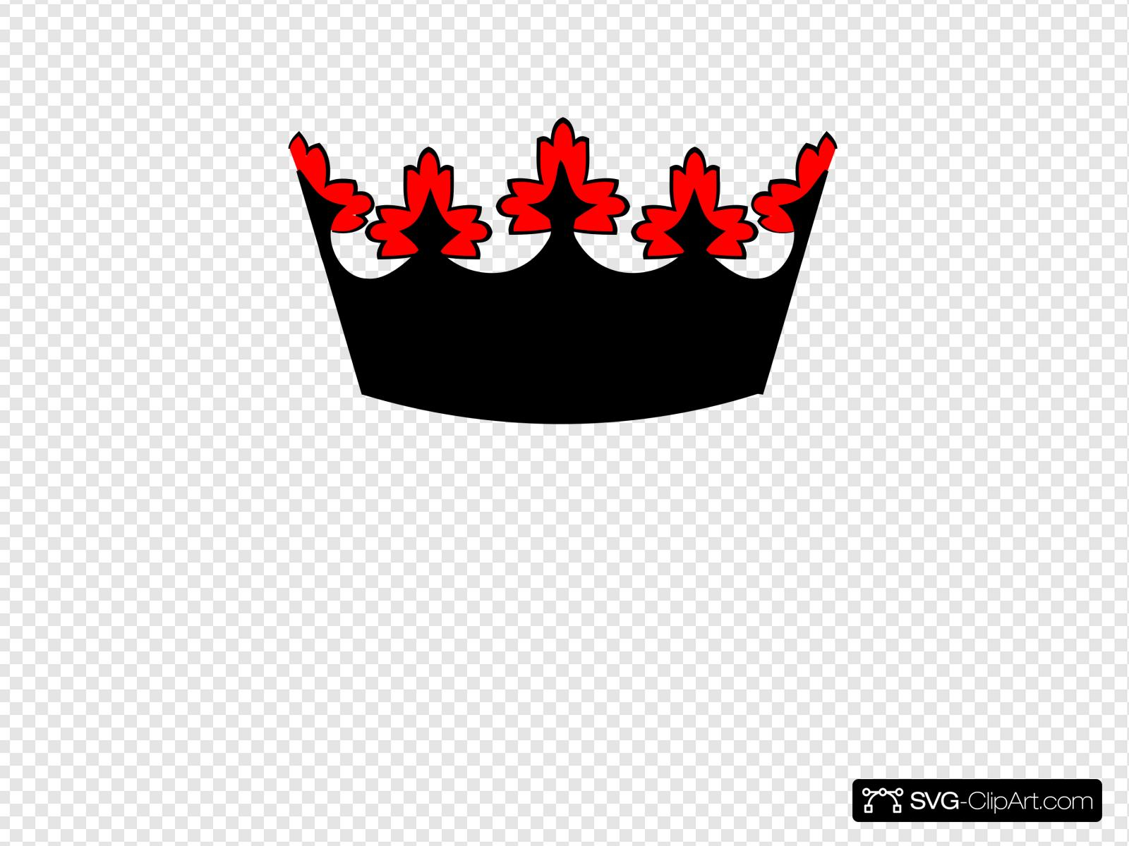 Black And Red Crown Clip art, Icon and SVG.